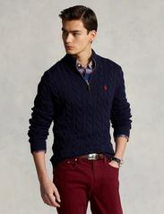 Polo Ralph Lauren - Cable-Knit Cotton Sweater - half zip - hunter navy - 0
