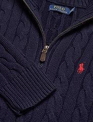 Polo Ralph Lauren - Cable-Knit Cotton Sweater - half zip - hunter navy - 3
