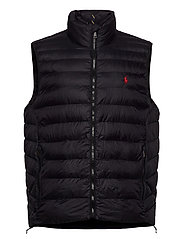 Packable Quilted Vest - POLO BLACK