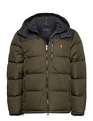 Color-Blocked Down Jacket - COMPANY OLIVE/ PO