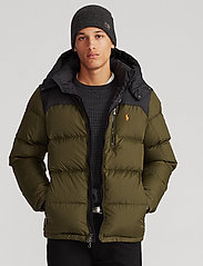 Polo Ralph Lauren - Color-Blocked Down Jacket - padded jackets - company olive/ po - 0