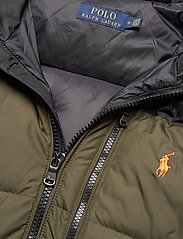 Polo Ralph Lauren - Color-Blocked Down Jacket - padded jackets - company olive/ po - 5