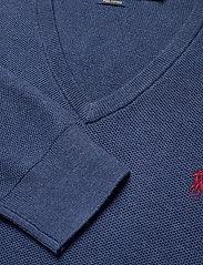 Polo Ralph Lauren - PIMA COTTON-LS TEXTURE VN - tops - rustic navy heath - 2