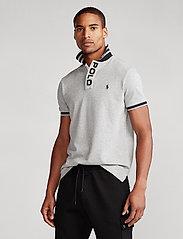 Polo Ralph Lauren - Custom Slim Fit Mesh Polo - short-sleeved polos - andover heather - 0