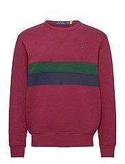 Striped Fleece Sweatshirt - CLASSIC WINE MULT