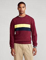 Polo Ralph Lauren - Striped Fleece Sweatshirt - tops - classic wine mult - 0