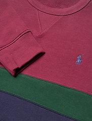 Polo Ralph Lauren - Striped Fleece Sweatshirt - tops - classic wine mult - 3
