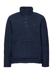 Fleece Mockneck Pullover - CRUISE NAVY