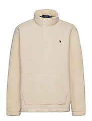 Fleece Mockneck Pullover - WINTER CREAM
