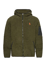 Fleece Full-Zip Hoodie - COMPANY OLIVE