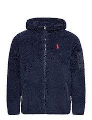 Fleece Full-Zip Hoodie - CRUISE NAVY