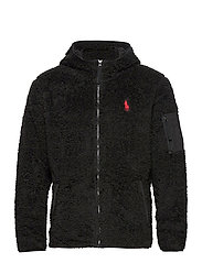 Fleece Full-Zip Hoodie - POLO BLACK