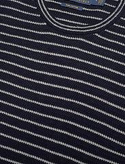 Polo Ralph Lauren - Striped Cotton Crewneck Sweater - knitted round necks - navy stripe - 2