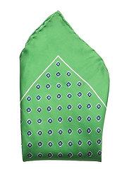 PRNTD NEATS SQUARE-POCKET SQUARE 14 - GREEN