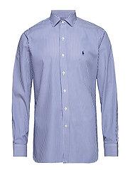 Custom Fit Striped Shirt - 3213A ROYAL/WHITE