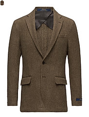 Morgan Herringbone Sport Coat - BROWN AND TAN
