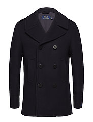 WOOL-POLO PEACOAT - NAVY