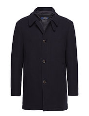 WOOL-POLO CAR COAT - DARK NAVY