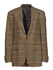 The RL67 Glen Plaid Jacket - BLACK AND CREAM W
