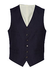 Polo Ralph Lauren STRP COTTON FLANNEL-VEST - NAVY AND WHITE