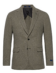 Soft Herringbone Sport Coat - BLACK/CREAM