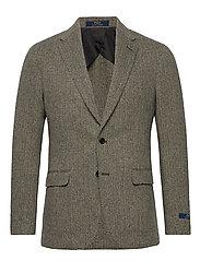 Soft Herringbone Sport Coat - BLACK/CREAM