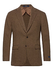 Soft Herringbone Sport Coat - BROWN/TAN