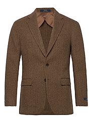Soft Herringbone Sport Coat - BROWN/TAN