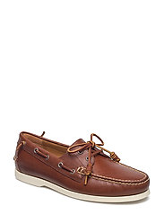 Merton Leather Boat Shoe - DEEP SADDLE TAN
