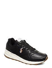 Polo Ralph Lauren Trackster 100 Leather Sneaker - BLACK