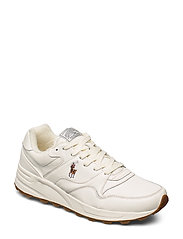 Polo Ralph Lauren Trackster 100 Leather Sneaker - EGRET