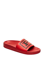 Cayson Polo Slide Sandal - RED/BLACK
