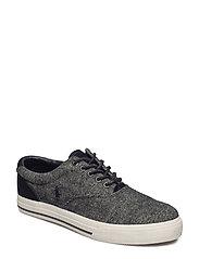 Vaughn Herringbone Sneaker - BLACK/CREAM