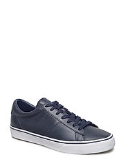 Sayer Leather Low-Top Sneaker - BRIGHT NAVY