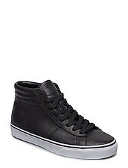 Shaw Calfskin High-Top Sneaker - BLACK