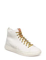 Dleaney Leather Sneaker - WHITE