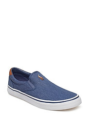 77a72ae9fad Thompson Washed Twill Sneaker - NEWPORT NAVY. SALE. 40%. Polo Ralph Lauren.  Thompson washed twill sneaker ...