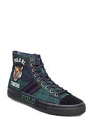 Tartan Solomon Twill Sneaker - NAVY/GREEN MULTI