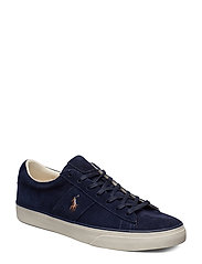 Sayer Leather Low-Top Sneaker - NAVY