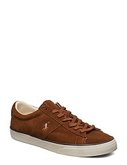 Sayer Leather Low-Top Sneaker - POLO SNUFF