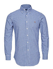 Custom Fit Cotton Oxford Shirt - BLUE/WHITE GINGHA