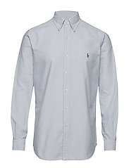 Custom Fit Cotton Oxford Shirt - BSR BLU/WHT