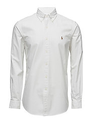 Custom Fit Cotton Oxford Shirt - WHITE