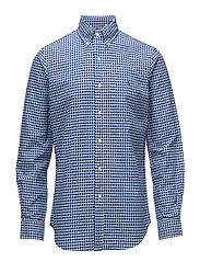 Custom Fit Cotton Oxford Shirt - BLUE/WHT GING
