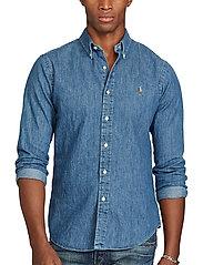 Polo Ralph Lauren - Slim Fit Chambray Shirt - farkkupaidat - dark wash - 0