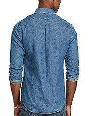 Polo Ralph Lauren - Slim Fit Chambray Shirt - farkkupaidat - dark wash - 6