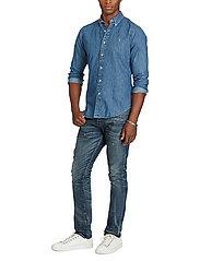 Polo Ralph Lauren - Slim Fit Chambray Shirt - farkkupaidat - dark wash - 3