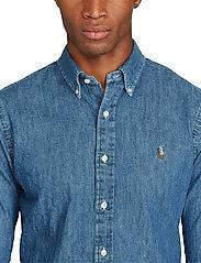 Polo Ralph Lauren - Slim Fit Chambray Shirt - farkkupaidat - dark wash - 4