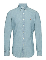 Slim Fit Chambray Shirt - MEDIUM WASH