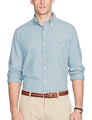 Polo Ralph Lauren - Slim Fit Chambray Shirt - denimowe koszulki - medium wash - 0